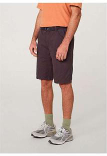 Bermuda Masculina Slim Com Cinto Roxo