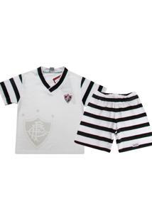 Pijama Reve D'Or Sport Curto Fluminense Branca