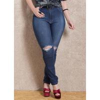 0bb2b8adf Calça (Jeans) Skinny Quintess Rasgada No Joelho