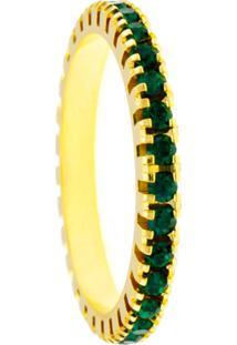 Aliança Horus Import Aparador Verde Esmeralda Dourada