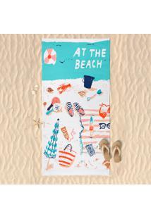 Toalha De Praia Estampada Beach - Panosul