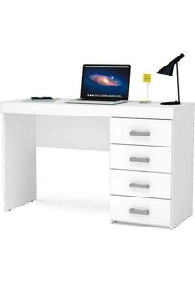 Mesa Para Computador Com 4 Gavetas Malta - Politorno - Branco