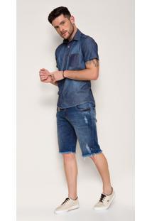 Bermuda Jeans Zait Fred Azul Marinho