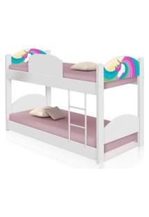 Beliche Infantil Unicórnio Arco Íris Com Colchões Casah