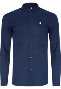 Camisa Masculina Básica - Azul