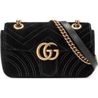 9fca3dab2 Farfetch. Gucci Bolsa Tiracolo Mini 'Gg Marmont' Em Veludo ...