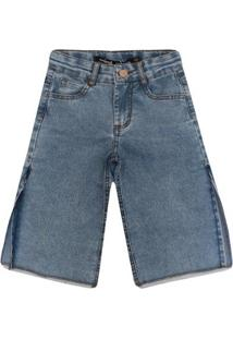 Calça Jeans Infantil Animê Abertura Lateral Feminina - Feminino