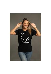 Camiseta Bossa Brasil I'M Lost Preta