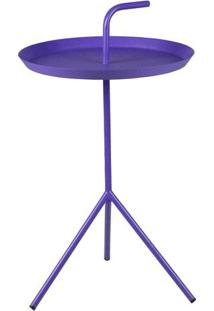 Mesa Apoio Handle Violeta Com Base Aco 41 Cm (Larg) - 43474 Sun House