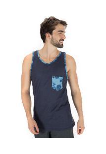 Camisa Regata Hd Arabesque 6311A - Masculina - Azul Escuro