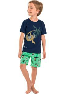 Pijama Infantil Sloth Azul