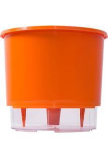 Vaso Autoirrigã¡Vel Mã©Dio- Incolor & Laranja- 11,4Xã˜1Raiz Vasos Autoirrigã¡Veis
