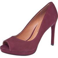806184720 Peep Toe Marsala feminino   Shoes4you