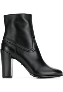Tod'S Ankle Boot Com Detalhe De Costura - Preto