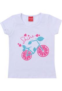 Camiseta Tricae Menina Estampado Branco