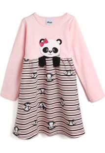 Vestido Elian Panda Rosa/Cinza