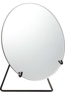 Espelho Com Suporte- Espelhado & Preto- 22Xø20X10,5Cmart