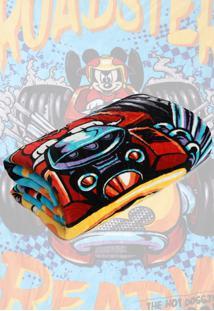 Cobertor Solteiro Lepper Mickey Dupla Face Azul 1,55 X 2,20 - Azul - Menino - Dafiti