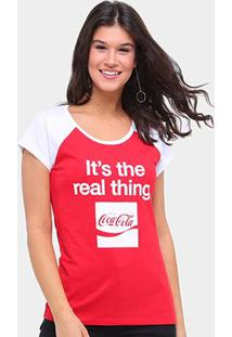 Camiseta Coca Cola Real Thing Feminina - Feminino