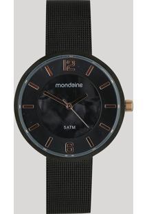 Relógio Analógico Mondaine Feminino - 99389Lpmvpe1 Preto