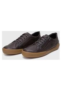Sapato Em Couro Hayabusa Z 10 Chocolate Solado Âmbar