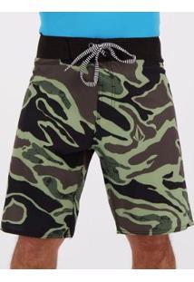 Bermuda Volcom Covert Camuflage - Masculino-Verde