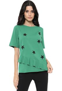 Camiseta My Favorite Thing(S) Babado Verde