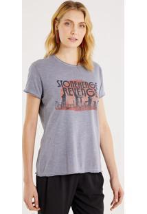 """Camiseta Mescla """"Stonehenge Revenge"""" - Cinza Claro & Prepop Up"""