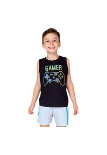 Pijama Infantil Menino Bela Notte Gamer Brilha No Escuro-10