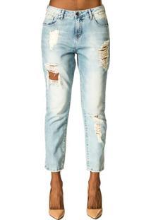Calça Jeans Com Rasgo Alphorria