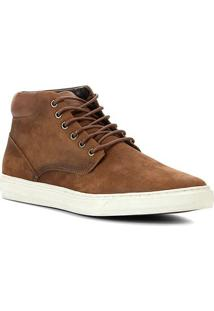Bota Couro Shoestock Cano Médio Masculina - Masculino-Caramelo