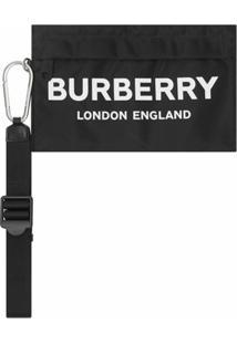 Burberry Clutch Com Estampa De Logo - Preto