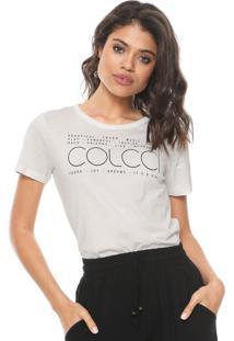 Camiseta Colcci Lettering Nude