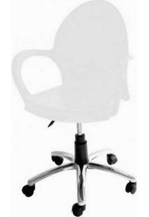 Cadeira Grace Com Rodizio Cor Branco - 20059 - Sun House
