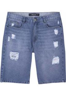 Bermuda Jeans Masculina Em Algodão E Modelagem Slim