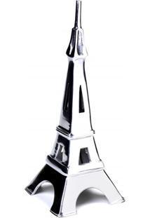 Escultura Em Alumínio Torre Eiffel Liat 36Cm Prata