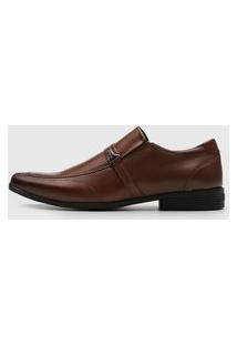 Sapato Social Ferracini Bico Quadrado Marrom
