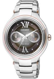Relógio Analógico Tz28235X- Prateado & Marrom Escurocitizen