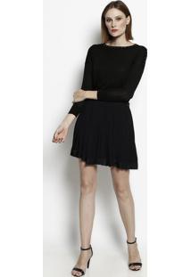 Suéter Em Lã Com Rebites - Preto & Douradoversace