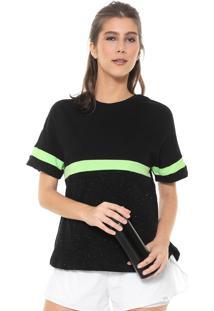 Camiseta Alto Giro Ceramic Recortes Preta/Verde