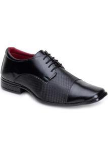 Sapato Social Em Sintetico Snapshoes Masculino - Masculino-Preto