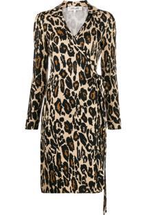 Diane Von Furstenberg Chemise Com Estampa De Leopardo - Marrom