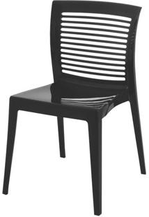 Cadeira Victoria Encosto Vazado Cor Preto - 21711 - Sun House