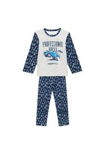 Pijama Primeiros Passos Abrange Estampa Carro Que Brilha No Escuro Mescla E Cinza Abrange Casual Cinza