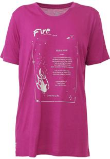 Camiseta Carmim Elements Rosa