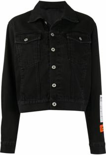 Heron Preston Logo Patch Buttoned Jacket - Preto