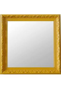 Espelho Moldura Rococó Raso 16368 Amarelo Art Shop