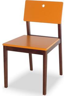 Cadeira Flip Cor Cacau Com Laranja - 30821 - Sun House