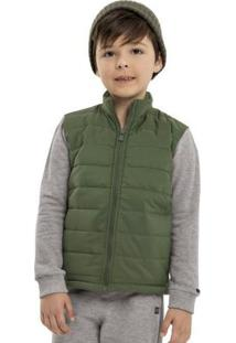 Jaqueta Infantil Em Matelasse Verde