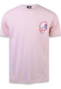 ebb8287d3 Camiseta New York Yankees Mlb New Era Masculina - Masculino-Rosa Claro